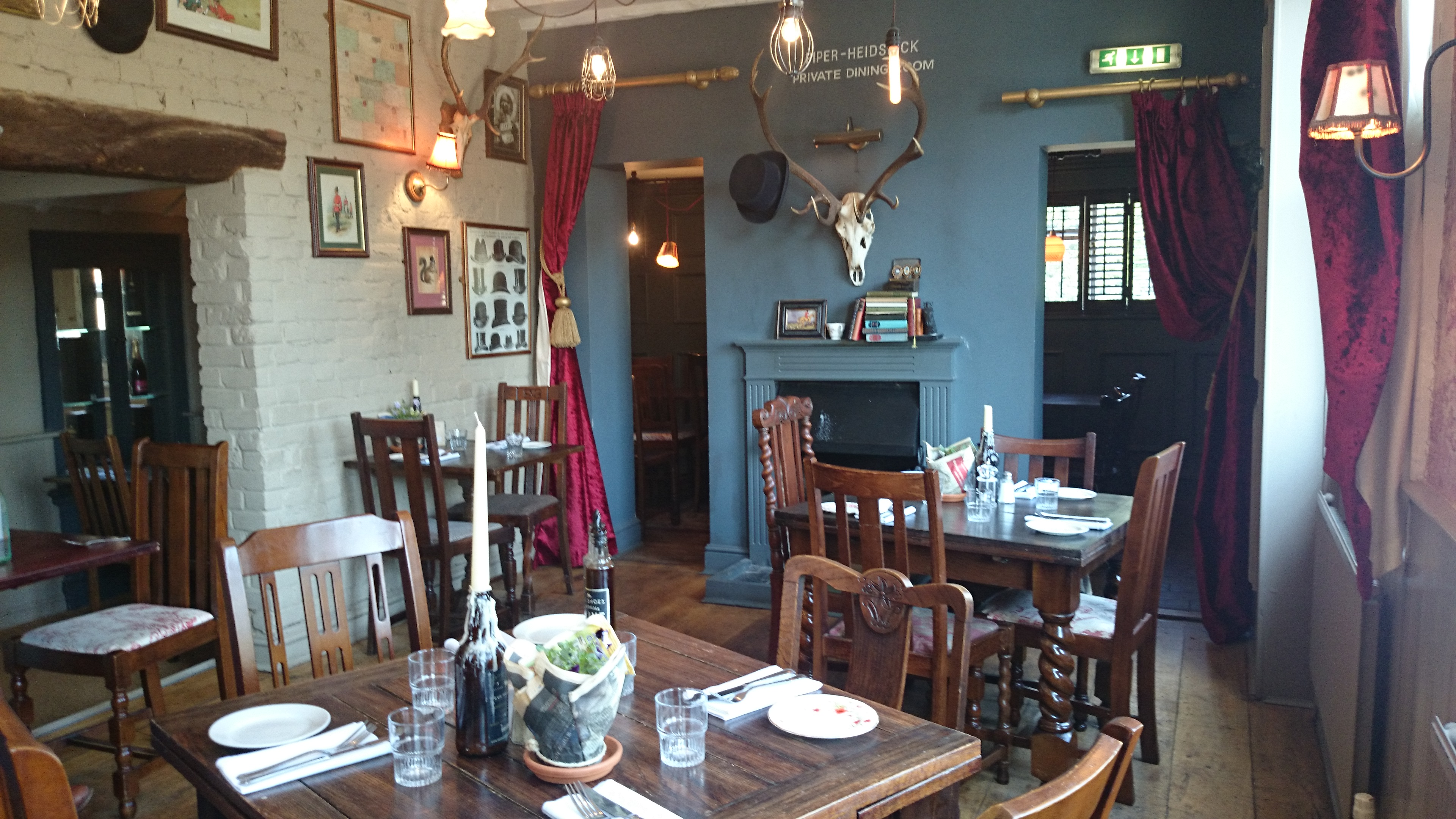 four horseshoes dining area. Chobham   Ladies Who Lunch in Surrey