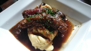 The Cricketers Downside Cobham toulouse sausage and mash