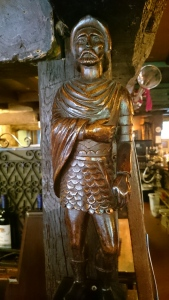 Withies Inn wood carving