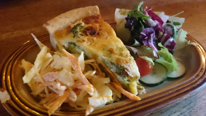 Withies Inn vegetable quiche