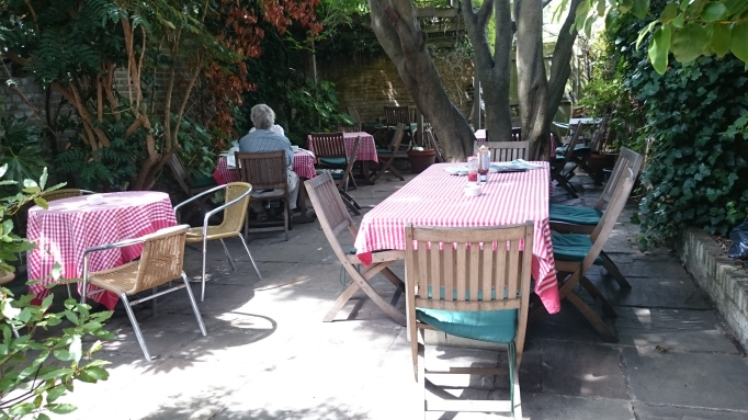 Five at the Bridge Hampton Court Surrey garden
