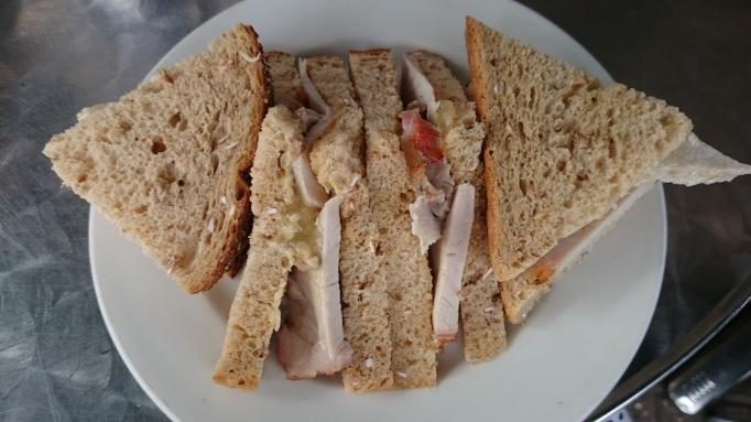 Five at the Bridge roast pork sandwich