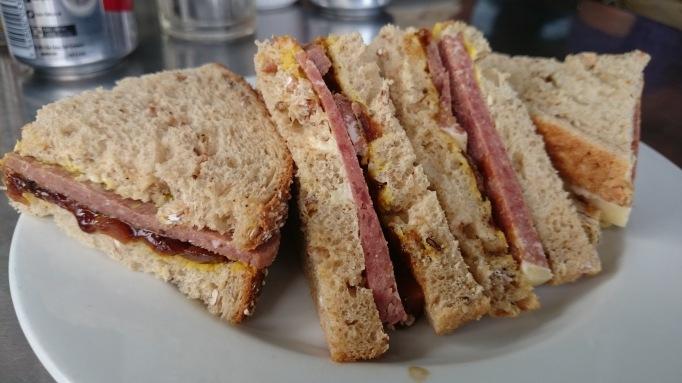Five at the Bridge corned beef sandwich