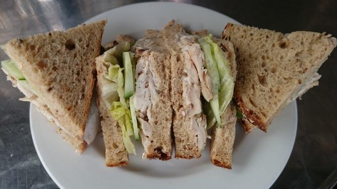Five at the Bridge roast chicken sandwich
