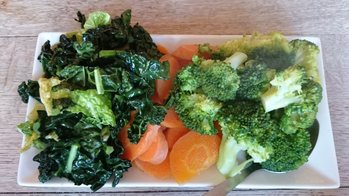 kale, carrots and broccoli vegetables with roast dinner The Olde Swan Chertsey