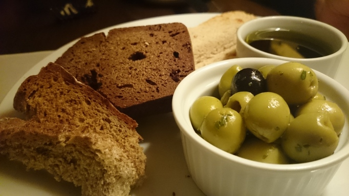 Riverside Carlton Mitre home made bread and olives