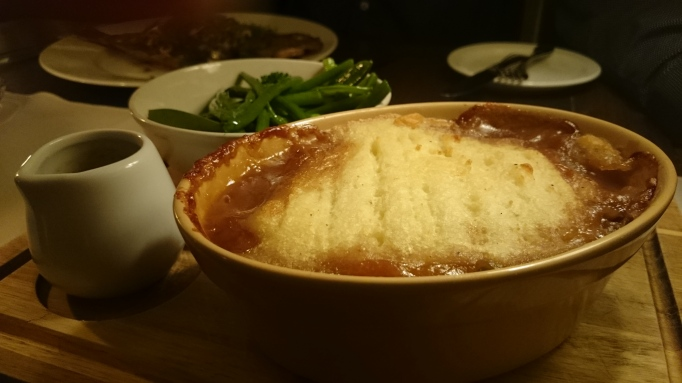 Riverside Carlton Mitre duck shepherd's pie