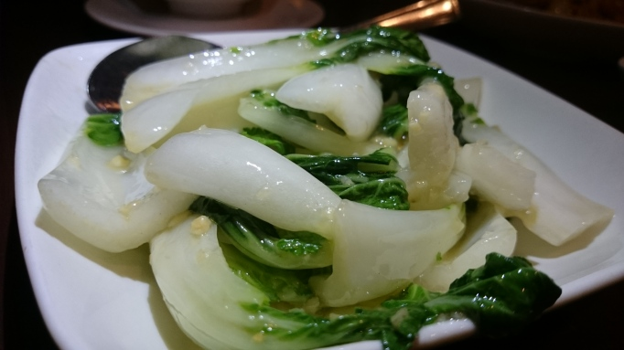 Naturally Chinese Restaurant pak choy in garlic sauce