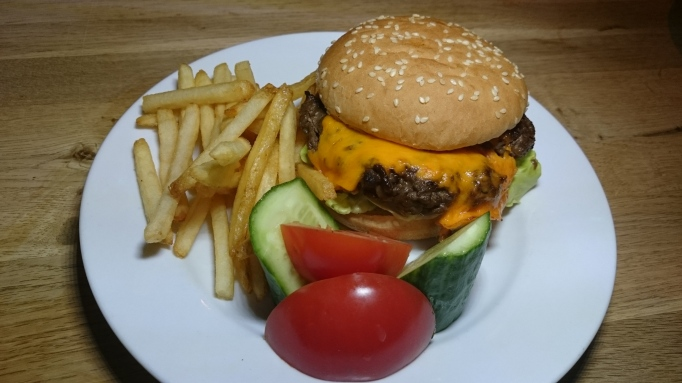 The Greyhound Pub kid's cheeseburger