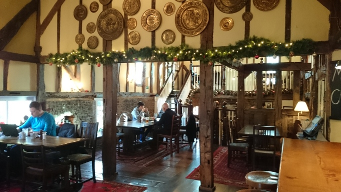 the Refectory Godalming half timbered bar area