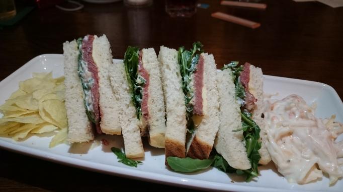 the Refectory Godalming rare roast beef sandwich