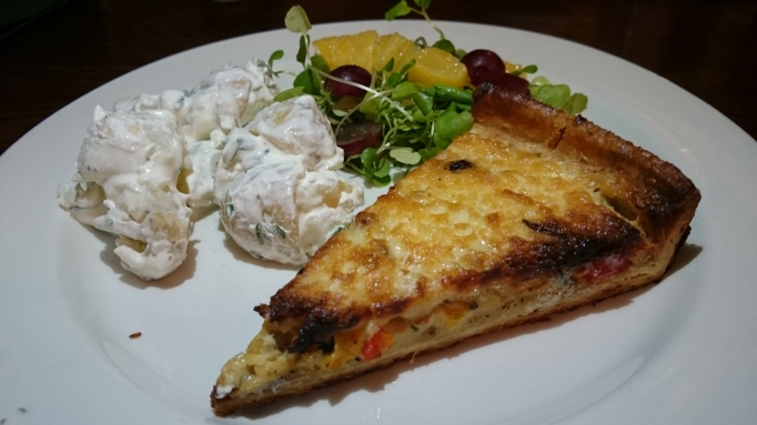 the Refectory Godalming blue cheese quiche