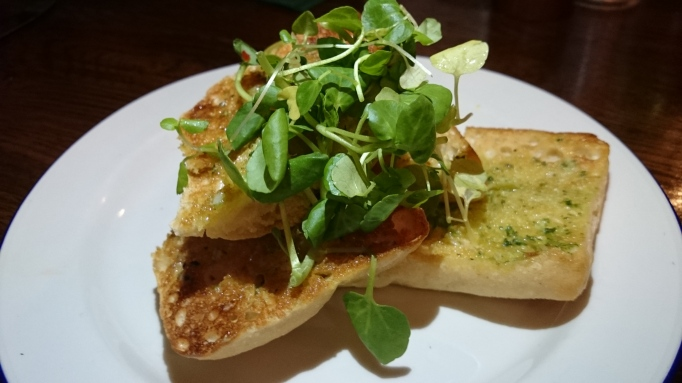 the Refectory Godalming garlic bread