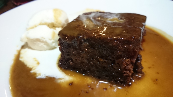 the Refectory Godalming sticky toffee pudding