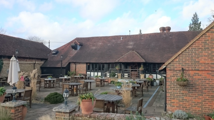 the Refectory Godalming outdoor al fresco seating area patio