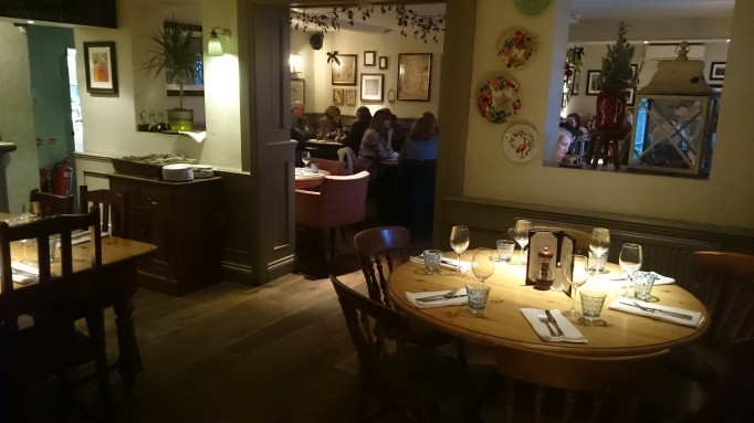 Three Horseshoes Laleham interior dining area