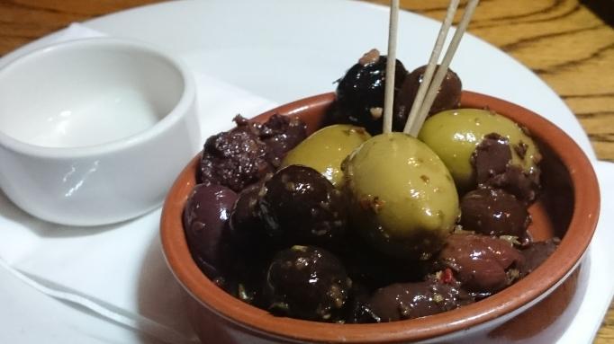 Three Horseshoes Laleham olives