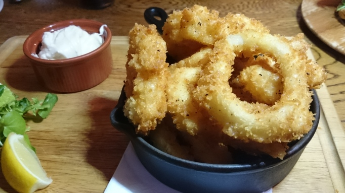 Three Horseshoes Laleham calamari