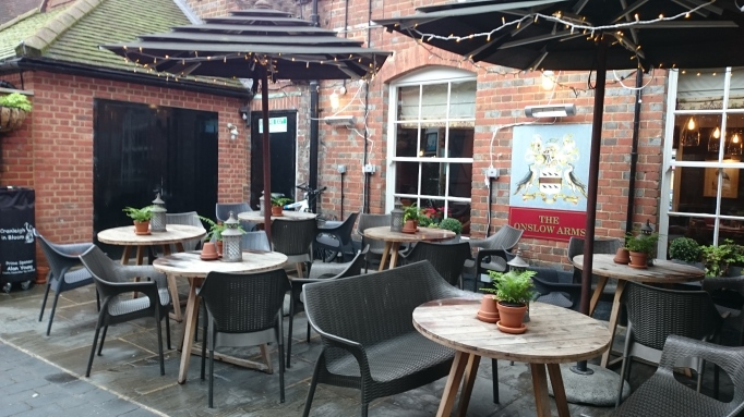 Court yard al fresco seating area The Richard Onslow