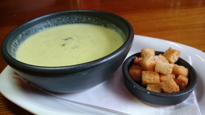broccoli and stilton soup with croutons The Richard Onslow