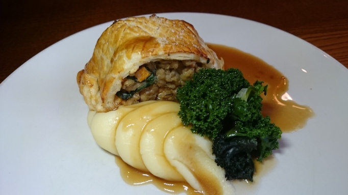 Vegetarian en croute barley and butternut squash The Richard Onslow