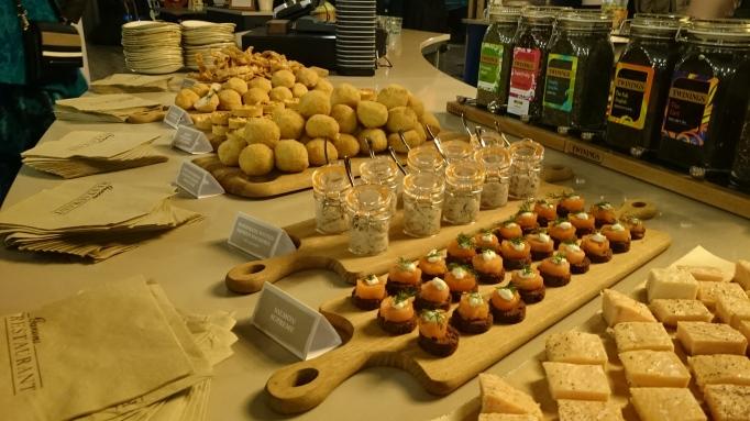 Garson's Farm Restaurant canape spread