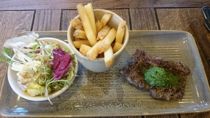 Cornish minute steak steak frites The Sun Chobham